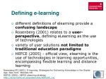defining e learning