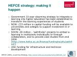 hefce strategy making it happen