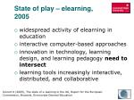 state of play elearning 2005