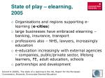 state of play elearning 20051
