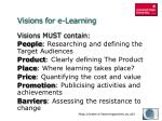 visions for e learning1