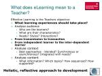 what does elearning mean to a teacher