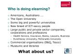 who is doing elearning