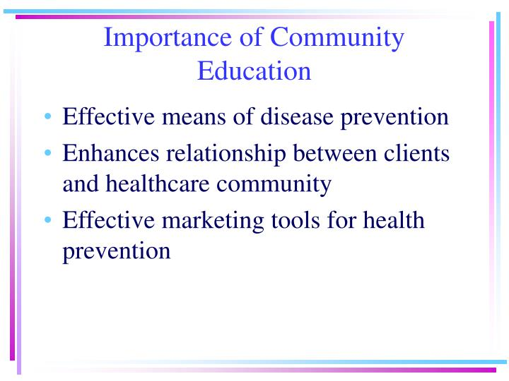 Importance of community education3