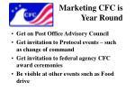 marketing cfc is year round