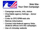 web site your own campaign