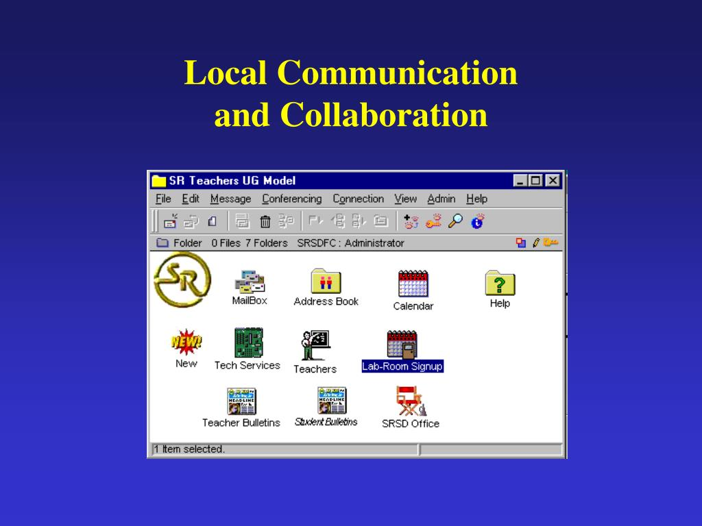 Local Communication and Collaboration