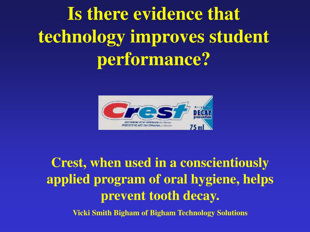 Is there evidence that technology improves student performance?