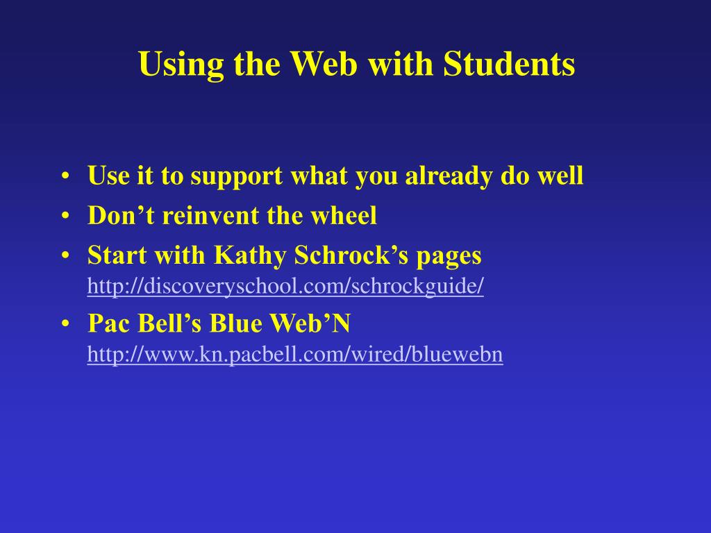 Using the Web with Students