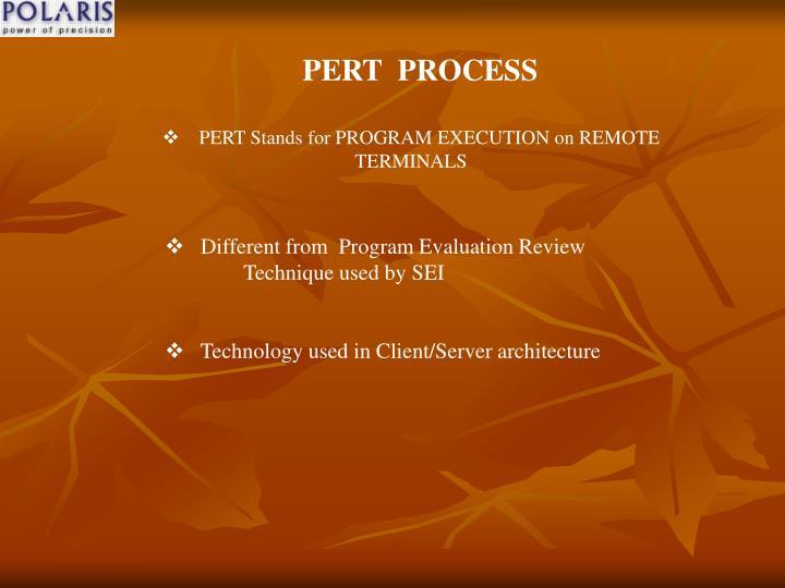 PERT  PROCESS