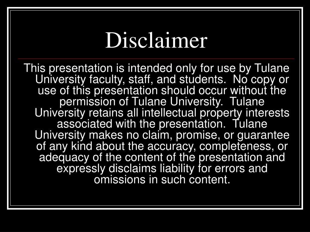 disclaimer l.