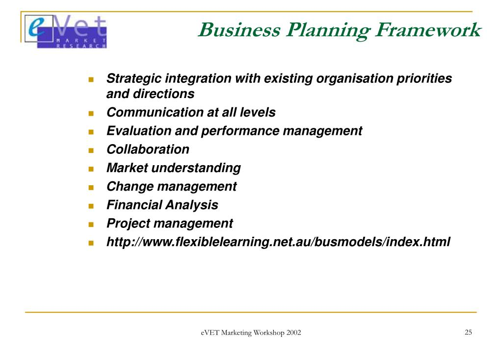 Business Planning Framework