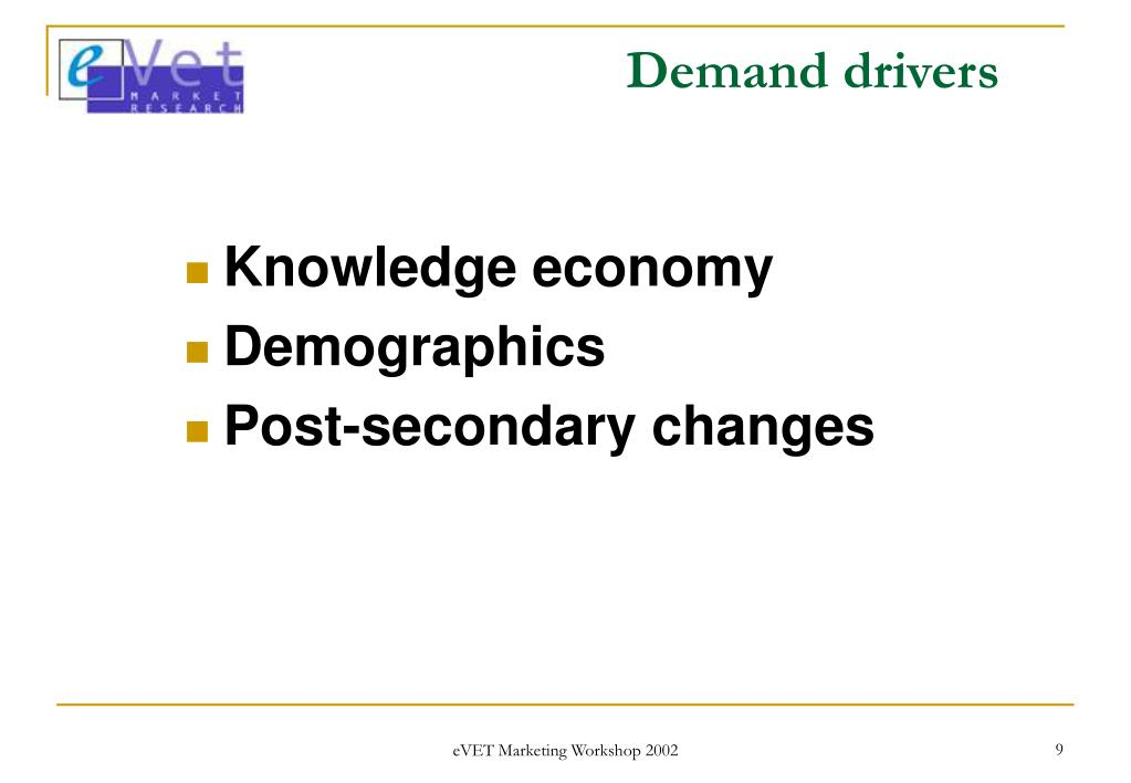 Demand drivers