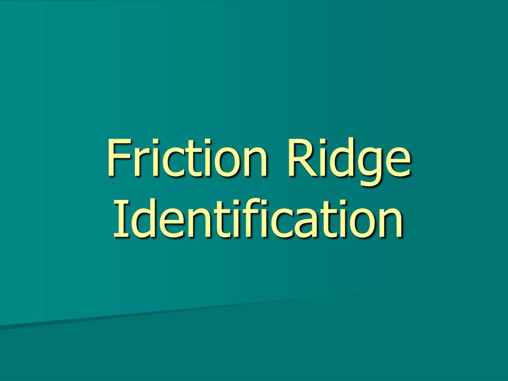 friction ridge identification l.