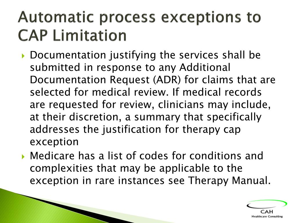 Automatic process exceptions to CAP Limitation