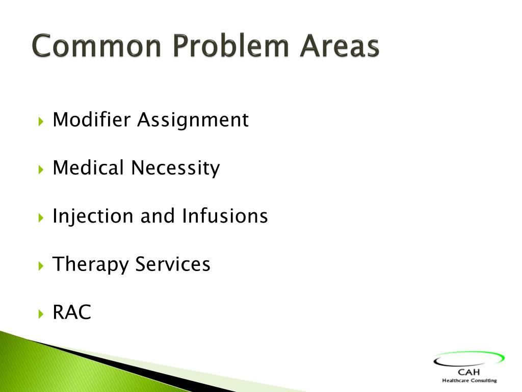 Common Problem Areas