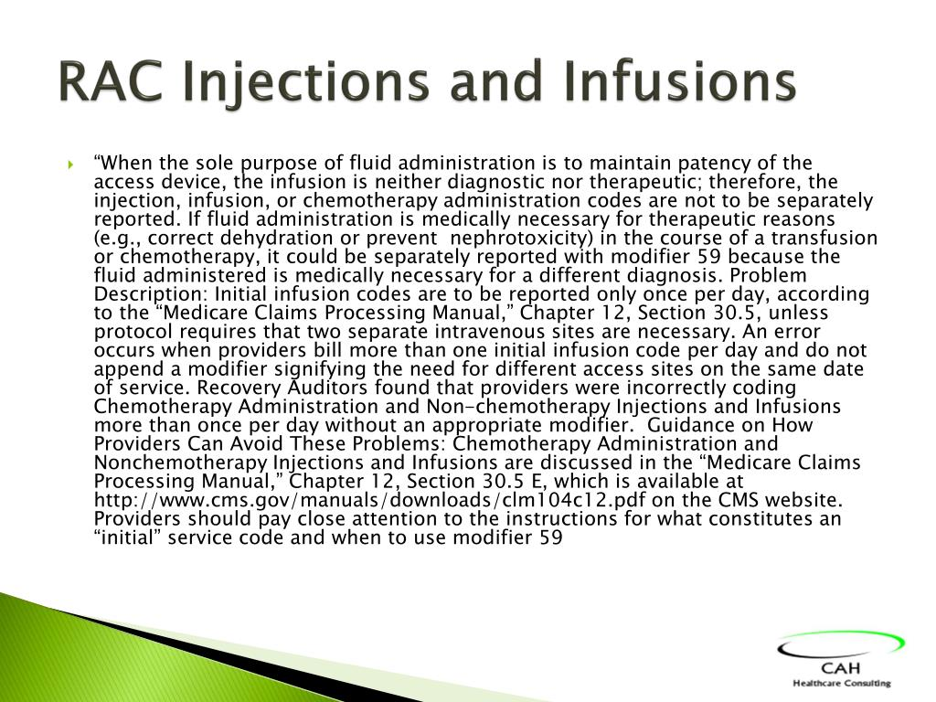 RAC Injections and Infusions
