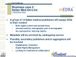 business case 2 italian med on line tentative title