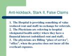 anti kickback stark ii false claims
