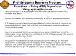 exceptions to policy etp requests for geographical bachelors