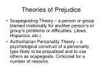 theories of prejudice