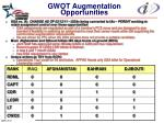gwot augmentation opportunities