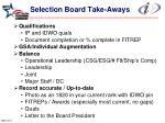 selection board take aways28