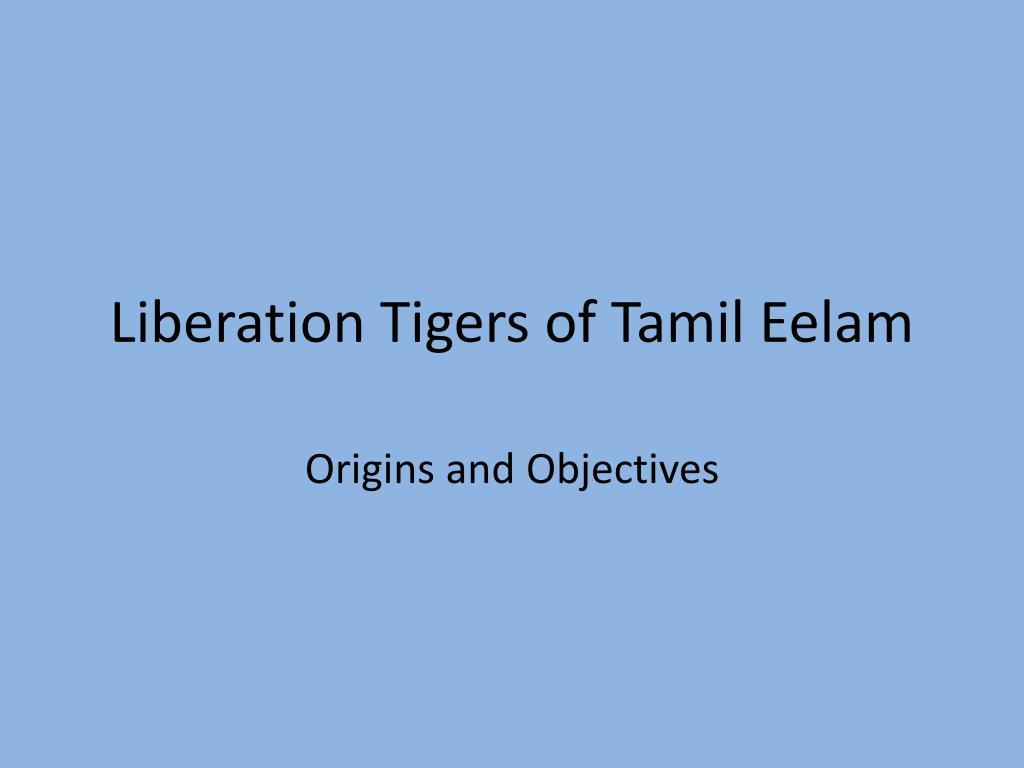liberation tigers of tamil eelam l.