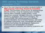 ieee learning technology standards committee ltsc