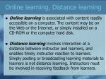 online learning distance learning