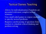 tactical games teaching