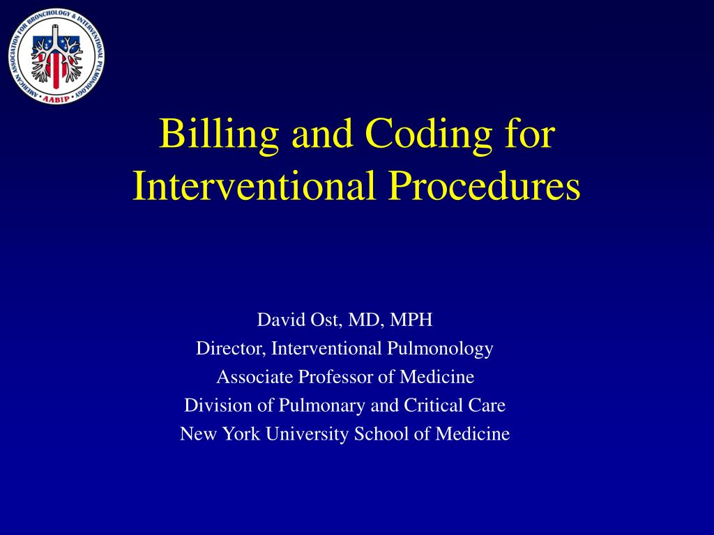 billing and coding for interventional procedures l.