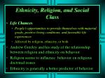 ethnicity religion and social class