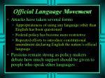 official language movement