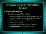 prejudice toward white ethnic groups