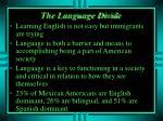 the language divide