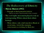 the rediscovery of ethnicity