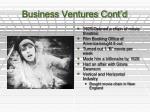 business ventures cont d