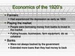 economics of the 1920 s