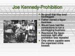 joe kennedy prohibition