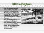 kkk in brighton