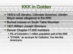 kkk in golden