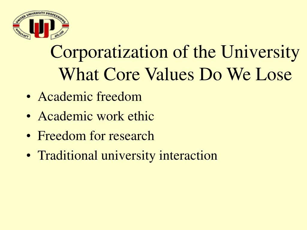 Corporatization of the University