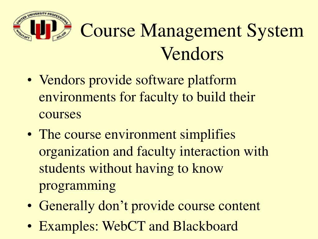 Course Management System Vendors