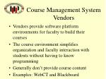 course management system vendors