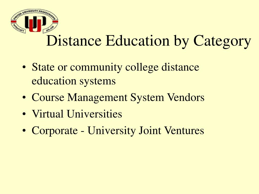 Distance Education by Category