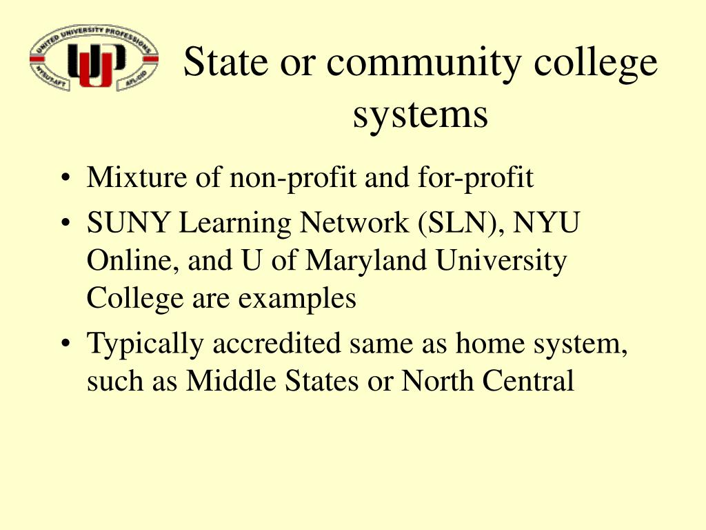 State or community college systems