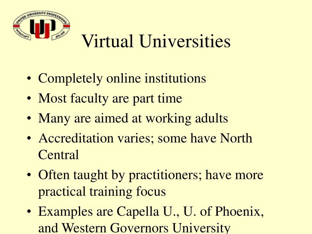 Virtual Universities