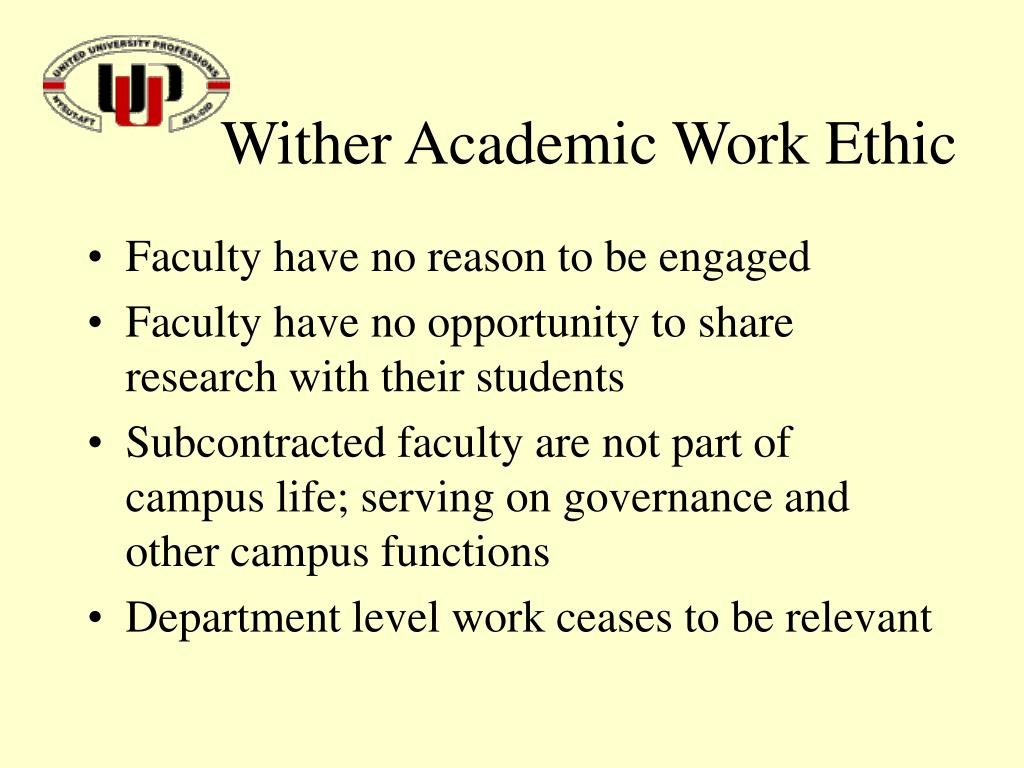 Wither Academic Work Ethic
