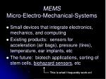 mems micro electro mechanical systems34